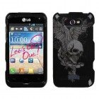 LG Motion 4G Skull Wing Protector Cover