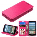 LG Optimus Zone 3 / Spree Hot Pink Wallet with Tray