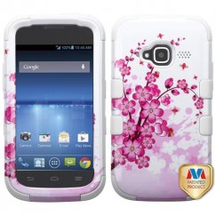 ZTE Concord 2 Spring Flowers/Solid White Hybrid Case