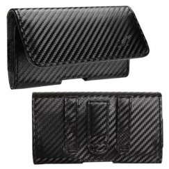 LG Revolution Black/Gray Braided Horizontal Pouch