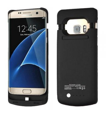 Samsung Galaxy S7 Edge 5200 mAh Rubberized Black Quantum Energy Battery Case