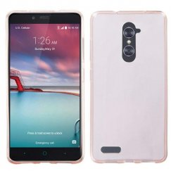 ZTE Grand X Max 2 Glossy Transparent Rose Gold Candy Skin Cover
