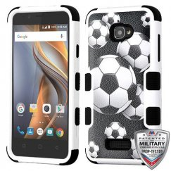 Coolpad Catalyst Soccer Ball Collage/Black Hybrid Case