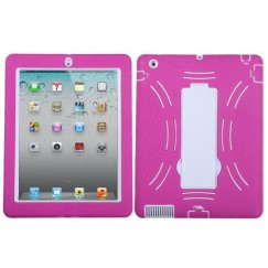 AppleiPad 2nd Generation 2011 White/Hot Pink Symbiosis Stand Protector Cover