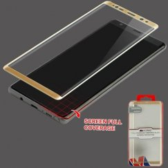 Samsung Galaxy Note 8 Full Coverage Tempered Glass Screen Protector/Gold
