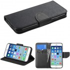 Apple iPhone 6/6s Black Pattern/Black Liner wallet (with card slot)