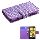 Nokia Lumia 520 Purple Diamonds Book-Style Wallet with Card Slot