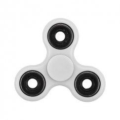 White Circles Triangle Spinner