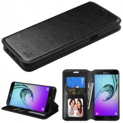 Samsung Galaxy A5 Black Wallet with Tray