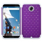 Motorola Nexus 6 Purple/Solid White FullStar Protector Cover