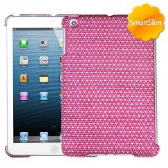 AppleiPad Mini 3rd Gen Dots(Hot Pink/white) Diamante SmartSlim Back Case