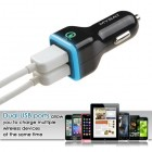QC2.0 Black Dual USB Car Charger (Qualcomm Quick Charge 2.0 Technology)