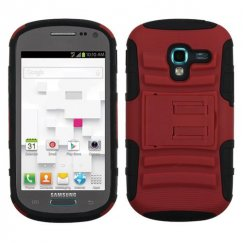 Samsung Galaxy Exhibit Red/Black Advanced Armor Stand Case