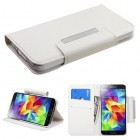 Samsung Galaxy S5 White Book-Style Wallet with Card Slot