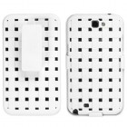 Samsung Galaxy Note 2 Rubberized Solid Ivory White Hybrid Holste (Weave Texture)