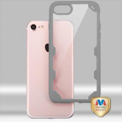 Apple iPhone 7 Transparent Clear/Iron Gray FreeStyle Challenger Hybrid Protector Cover