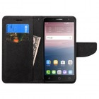 Alcatel Fierce 4 / Pop 4 Plus / Allura Black Pattern/Black Liner wallet with Card Slot