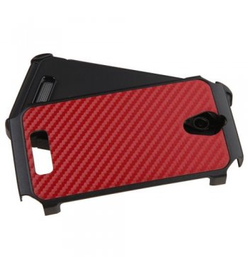 ZTE Obsidian Red Carbon-Fiber Backing/Black Astronoot Phone Protector Cover