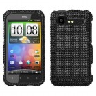HTC Droid Incredible 2 Black Diamante Case