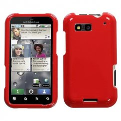 Motorola Defy Solid Flaming Red Case