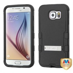 Samsung Galaxy S6 Natural Black/Black Hybrid Case with Stand