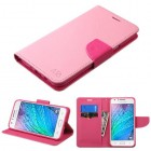 Samsung Galaxy J7 Pink Pattern/Hot Pink Liner Wallet with Card Slot