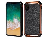 Black Lychee Grain(Rose Gold Plating)/Black Astronoot Protector Cover