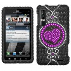 Motorola Droid 3 Center of Attention Diamante Phone Protector Cover