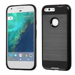 Google Pixel XL Black/Black Brushed Hybrid Case