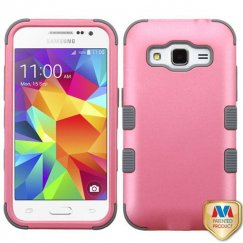 Samsung Galaxy Core Prime Rubberized Pearl Pink/Iron Gray Hybrid Case