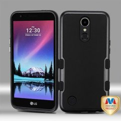 LG K10 Metallic Black/Rubberized Black Panoview Hybrid Case