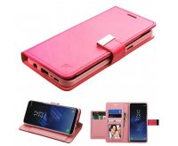 Hot Pink/Pink PU Leather Wallet with extra card slots (GE033) -WP