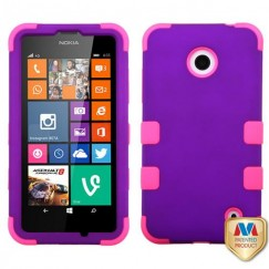 Nokia Lumia 635 Rubberized Grape/Electric Pink Hybrid Case