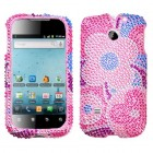 Huawei Ascend II / Prism / Summit Colorful Flowers Diamante Case