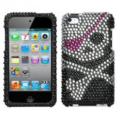 Apple iPod Touch (4th Generation) Skull Diamante Case