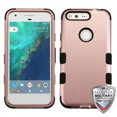 Google Pixel Rose Gold/Black Hybrid Case - Military Grade
