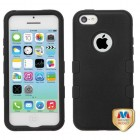 Apple iPhone 5/5s Rubberized Black/Black Hybrid Phone Protector Cover