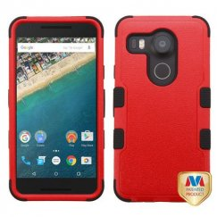 LG Nexus 5X Natural Red/Black Hybrid Case