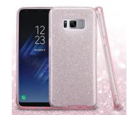 Samsung Galaxy S8 Pink Full Glitter Hybrid Protector Cover