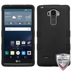 LG G Stylo Rubberized Black/Black Hybrid Case