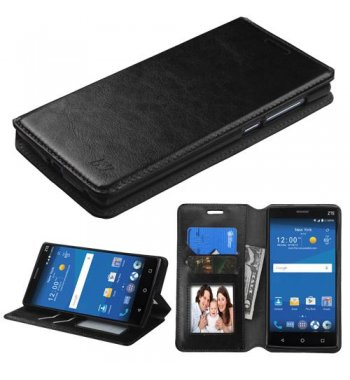 ZTE ZMAX 2 Black Wallet(with Tray)
