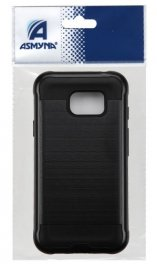Asmyna Brushed Hybrid Armor Case for Samsung Galaxy S7 Active - Black