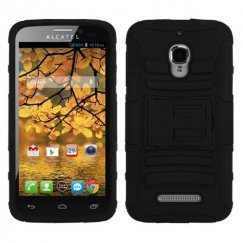 Alcatel One Touch Fierce Black/Black Advanced Armor Stand Case