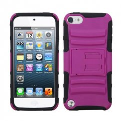 Apple iPod Touch (5th Generation) Hot Pink/Black Advanced Armor Stand Case
