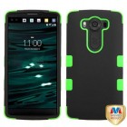 LG V10 Rubberized Black/Electric Green Hybrid Phone Protector Cover