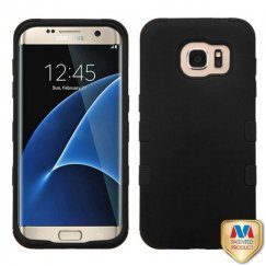 Samsung Galaxy S7 Edge Rubberized Black/Black Hybrid Case