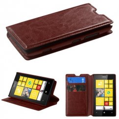 Nokia Lumia 520 Brown Wallet with Tray
