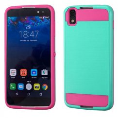 Blackberry DTEK50 Teal Green/Hot Pink Brushed Hybrid Case