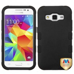 Samsung Galaxy Core Prime Rubberized Black/Black Hybrid Case