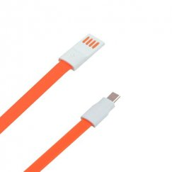 Orange Noodle Data Cable